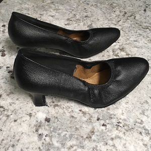 Shoes - Ballroom Dance Black Leather Pumps